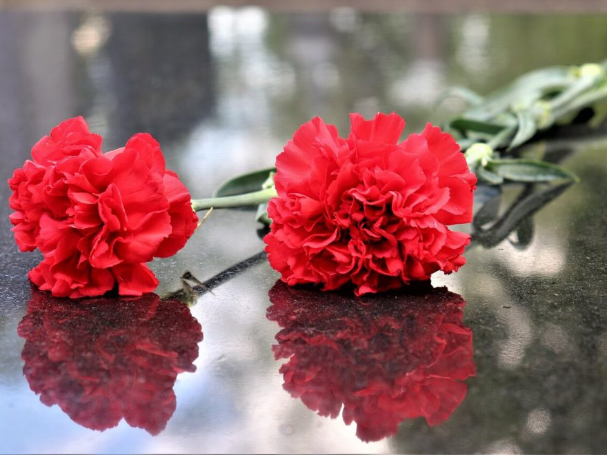 kwiaty na grobie